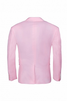 Peak Lapel Candy Pink Single Breasted UK Wedding Suit For Men_5