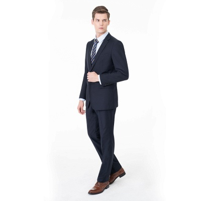 Peak Lapel Two Pieces with Pants Two Button Comfortable Casual Suits UK_1