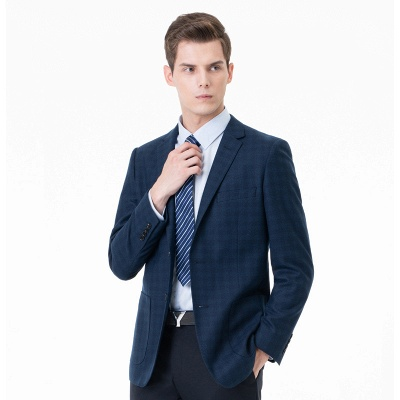Comfortable Groomsman Lattice Two Button Peak Lapel Two Pieces Suits with Pants_2