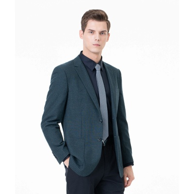 Customize Lattice Two-piece Suit Peak Lapel Single Breasted Career Suits UK_1