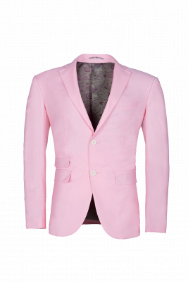 Peak Lapel Candy Pink Single Breasted UK Wedding Suit For Men_1