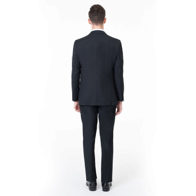 High Quality Peak Lapel Single Breasted Two Pieces Custom Made Suit UK with Pants_2