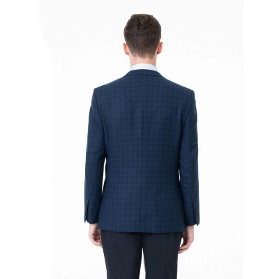 Comfortable Groomsman Lattice Two Button Peak Lapel Two Pieces Suits with Pants_4