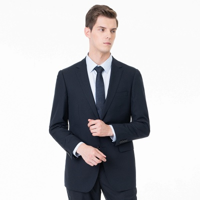 Two-piece Suit Peak Lapel Single Breasted UK Wedding Suits_1