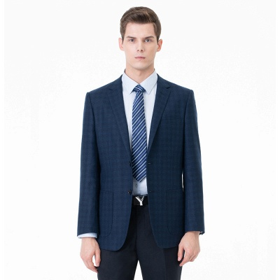 Comfortable Groomsman Lattice Two Button Peak Lapel Two Pieces Suits with Pants_1