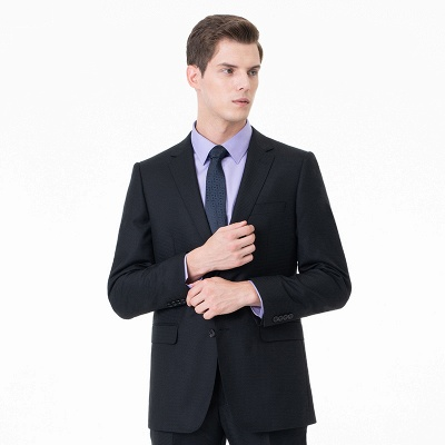High Quality Two-piece Suit Single Breasted UK Wedding Suits_1