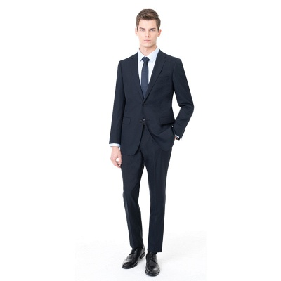 Two-piece Suit Peak Lapel Single Breasted UK Wedding Suits_5