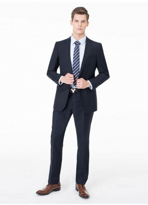Peak Lapel Two Pieces with Pants Two Button Comfortable Casual Suits UK_8