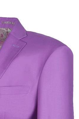 Latest Design High Quality Peak Lapel Single Breasted Two Button Lilac UK Wedding Suits_4