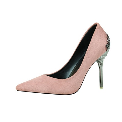 Modern Pionted Toe High Heel Hollowout Wedding Shoes UK_4