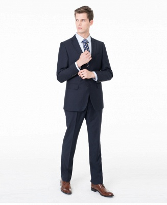 Peak Lapel Two Pieces with Pants Two Button Comfortable Casual Suits UK_6