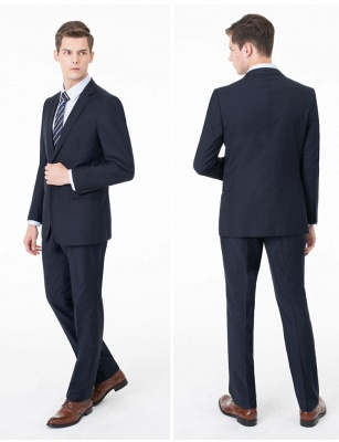Peak Lapel Two Pieces with Pants Two Button Comfortable Casual Suits UK_7