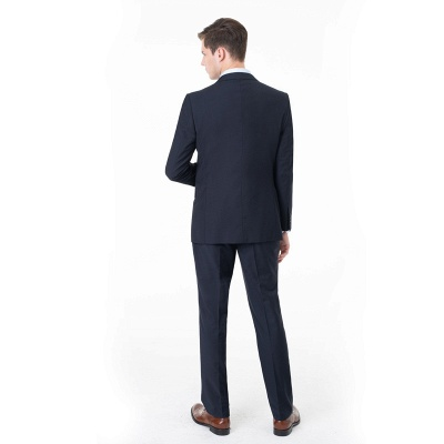 Peak Lapel Two Pieces with Pants Two Button Comfortable Casual Suits UK_2