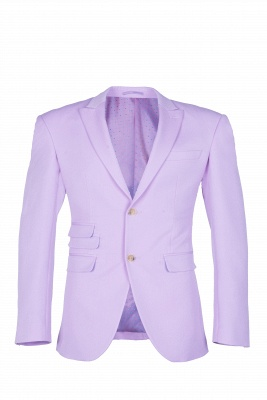 Bespoke Peak Lapel High Quality Two Button Lavender Casual Suit UK_1