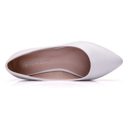 Woman Round Toe PU Flat Wedding Shoes UK_6