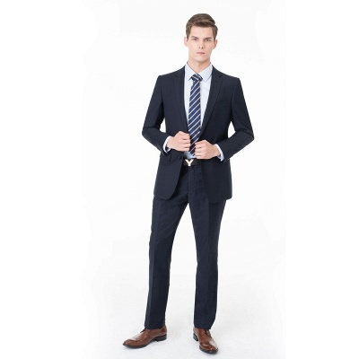 Peak Lapel Two Pieces with Pants Two Button Comfortable Casual Suits UK_3