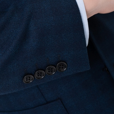 Comfortable Groomsman Lattice Two Button Peak Lapel Two Pieces Suits with Pants_6