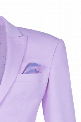 Bespoke Peak Lapel High Quality Two Button Lavender Casual Suit UK_3