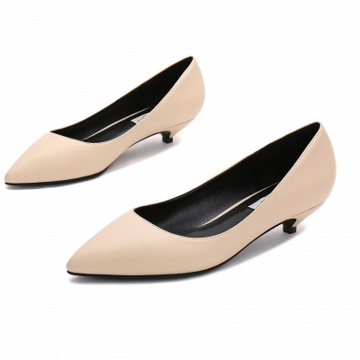 Woman Pointed Toe Kitten Heel Wedding Shoes UK