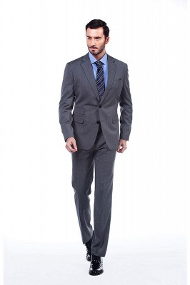 Single Breasted Notched Lapel Classic Suit | New Design 2 Pieces Two Button Slim Fit British Men Suits UK_3