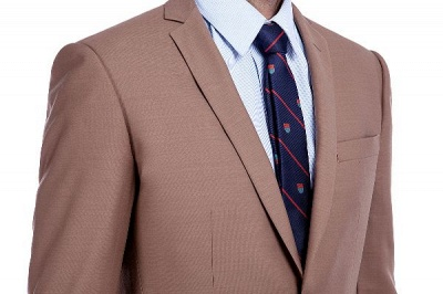 Light Brown Single Breasted Notched Lapel Custom Business Suit | High Quality 3 Pocket Fashion British Men Suit_5
