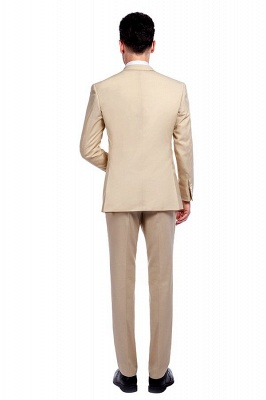 High Quality Bright Khaki Notched Lapel Men Business Suit | Single Breasted 3 Pockets Tailoring Suit_4