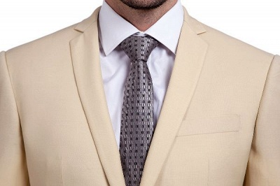 High Quality Bright Khaki Notched Lapel Men Business Suit | Single Breasted 3 Pockets Tailoring Suit_5