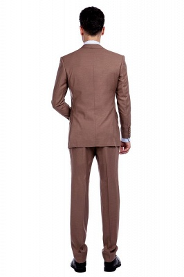 Light Brown Single Breasted Notched Lapel Custom Business Suit | High Quality 3 Pocket Fashion British Men Suit_3