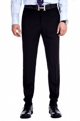 Navy Blue Popular Jacquard Custom Luxury Suit | Single Breasted One Button Bestman Wedding Tuxedos_3
