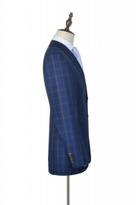 Dark Blue Wool Shawl Collar UK Wedding Suit For Bestman | New Arriving Single Breasted Tailor Made British Men Suit_5