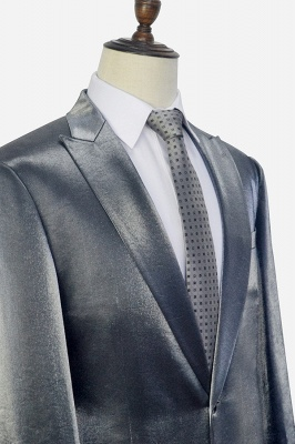 Bespoke Grey Velvet Custom UK Wedding Suit For Bestman | Peak lapel Single Breasted 2 Pocket Formal British Men Suits UK_5