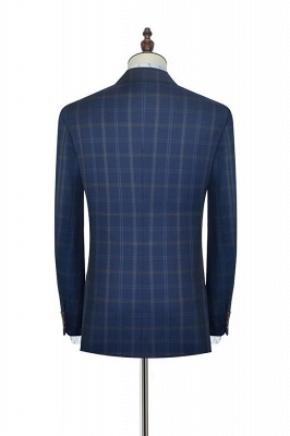 Dark Blue Wool Shawl Collar UK Wedding Suit For Bestman | New Arriving Single Breasted Tailor Made British Men Suit_4