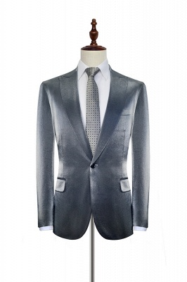 Bespoke Grey Velvet Custom UK Wedding Suit For Bestman | Peak lapel Single Breasted 2 Pocket Formal British Men Suits UK_3