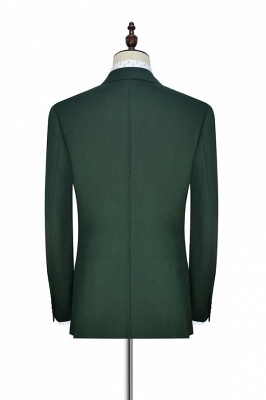 Green Double Breasted Tailored Suit UK For Formal | Peaked Lapel 3 Pockets Custom Made Causal Suit_4