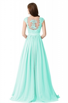 Summer V Neck Chiffon Bridesmaid Dress with Appliques_10