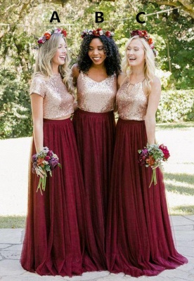 New Series Long Bridesmaids Dresses | Beautiful Sequined Bridesmaids Dresses_1