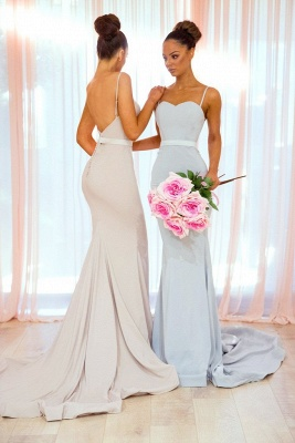 Elegant Spaghetti Straps Bridesmaid Dress | Sexy Trumpt Long Party Gowns_3
