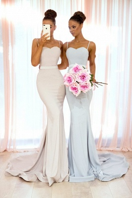 Elegant Spaghetti Straps Bridesmaid Dress | Sexy Trumpt Long Party Gowns_1