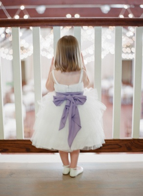 Cute Bowknot Tulle Tea Length UK Flower Girl Dress New Trendy Custom Made Dresses for Girl_2