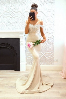 Off-the-Shoulder Bridesmaid Dresses UK | Elegant Lace Maid of the Honor Dresses_3