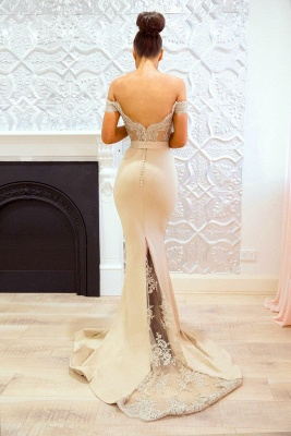 Off-the-Shoulder Bridesmaid Dresses UK | Elegant Lace Maid of the Honor Dresses_4