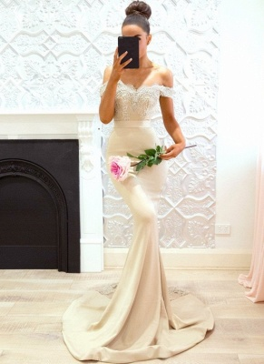 Off-the-Shoulder Bridesmaid Dresses UK | Elegant Lace Maid of the Honor Dresses_1