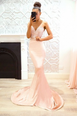 Pink Sweetheart Neck Bridesmaid Dresses UK | Sleeveless Long Maid of the Honor Dress_3