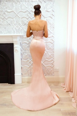 Pink Sweetheart Neck Bridesmaid Dresses UK | Sleeveless Long Maid of the Honor Dress_4