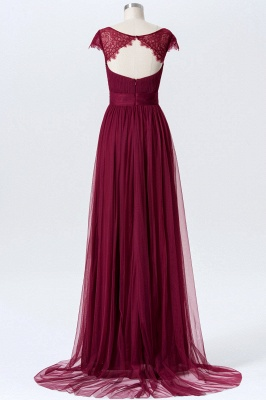 Summer Chiffon Tulle Bridesmaid Dresses UK | Cap Sleeves Sweetheart Maid of the Honor Dresses_2