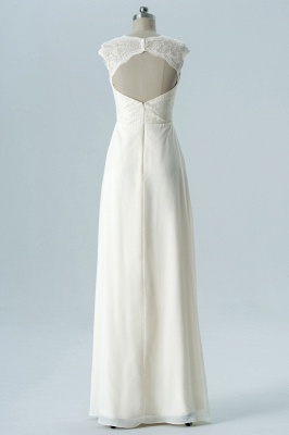 Fall Chiffon Bridesmaid Dresses UK | Lace Sleeveless Floor Length Maid of Honor Dresses_2