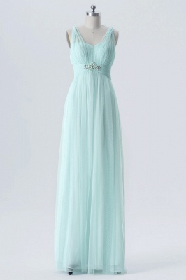 Fall Chiffon Multi Styles Floor Length Bridesmaid Dresses UK with Beading_2
