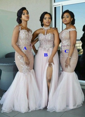 Spring Pink Tulle Bridesmaid Dresses UK | Multi Styles Wedding Party Dresses_1
