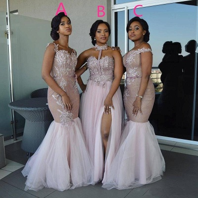 Spring Pink Tulle Bridesmaid Dresses UK | Multi Styles Wedding Party Dresses_3