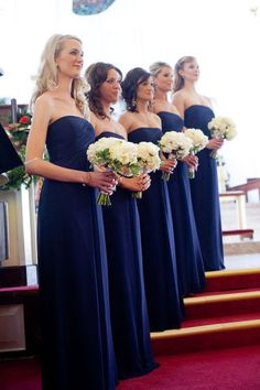 Modest Royal Blue Long Chiffon Evening Bridesmaid Dresses UK_3